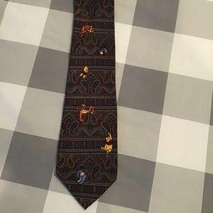 Paisley Disney Winnie the Pooh Tie